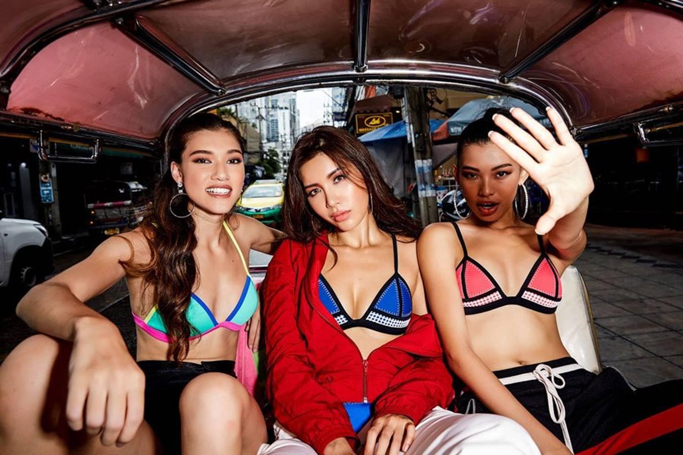 Minh Tú cùng học trò diện bikini ra chợ-2