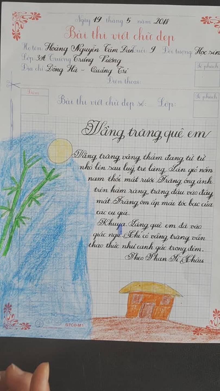 Thầy nào trò nấy, học sinh của 18 cô giáo viết đẹp gây sốt hôm qua cũng có nét chữ không máy in nào sánh bằng-10