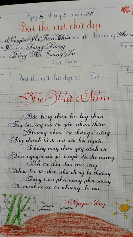 Thầy nào trò nấy, học sinh của 18 cô giáo viết đẹp gây sốt hôm qua cũng có nét chữ không máy in nào sánh bằng-16