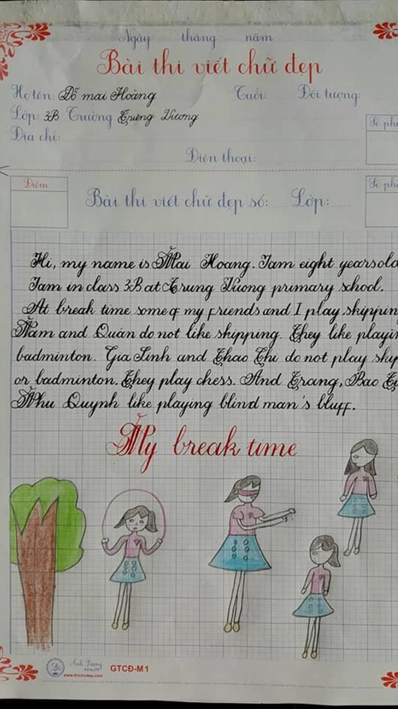 Thầy nào trò nấy, học sinh của 18 cô giáo viết đẹp gây sốt hôm qua cũng có nét chữ không máy in nào sánh bằng-7