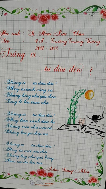 Thầy nào trò nấy, học sinh của 18 cô giáo viết đẹp gây sốt hôm qua cũng có nét chữ không máy in nào sánh bằng-6