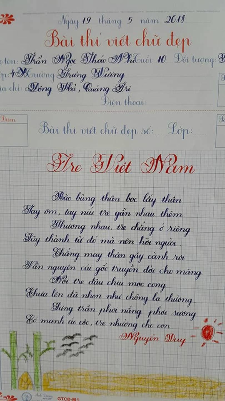 Thầy nào trò nấy, học sinh của 18 cô giáo viết đẹp gây sốt hôm qua cũng có nét chữ không máy in nào sánh bằng-5