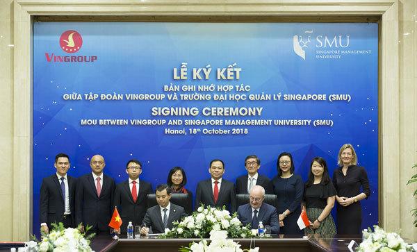 Vingroup và SMU hợp tác nâng cao năng lực quản trị-1