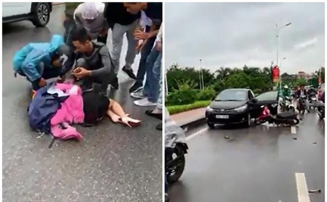 Tài xế mở cửa bất cẩn khiến người phụ nữ chạy xe máy bị kéo lê gần 10m - vụ tai nạn ám ảnh-1