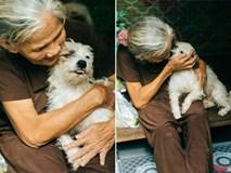 Bà lão trong bức ảnh ôm hôn tạm biệt