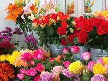 Hoa tươi tăng chóng mặt giá gấp 2-3 lần ngày thường nhưng vẫn cháy hàng