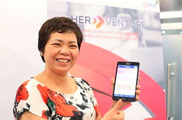 Phái đẹp học kinh doanh miễn phí qua ứng dụng HerVenture-1
