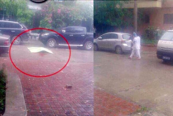 Người đàn ông 35 tuổi đập cửa kính, nhảy từ tầng 8 chung cư xuống rồi tử vong ở Hà Nội-1