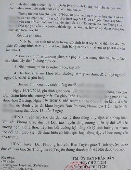 Vụ cô giáo bắt học sinh tát nhau: Nhà trường thiếu trung thực khi báo cáo-3