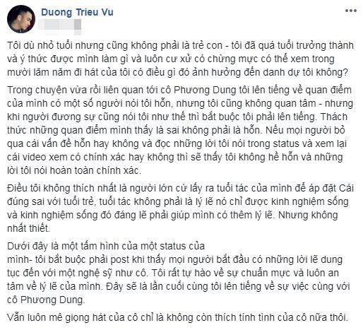 Mr. Đàm bênh Dương Triệu Vũ, phản pháo danh ca Phương Dung-3