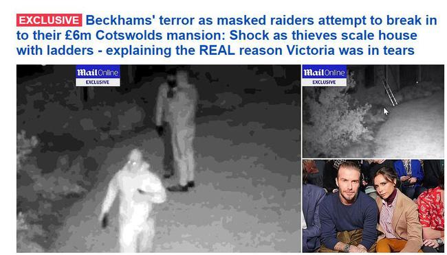 Sốc: Victoria suy sụp còn David Beckham giận dữ khi phát hiện nhóm tội phạm bịt mặt đột nhập biệt thự-1