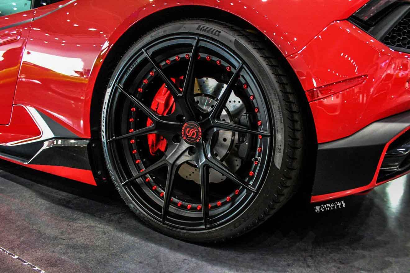 Lamborghini Huracan LP580-2 cực ngầu với bộ mâm hàng hiệu giá hơn 150 triệu đồng-5
