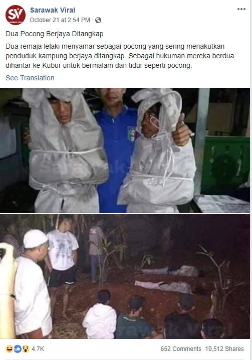 Giả ma dọa dân làng, 2 thanh niên vừa bị bắt ra nghĩa trang nằm ngủ cả đêm cho chừa thói đùa dai-1
