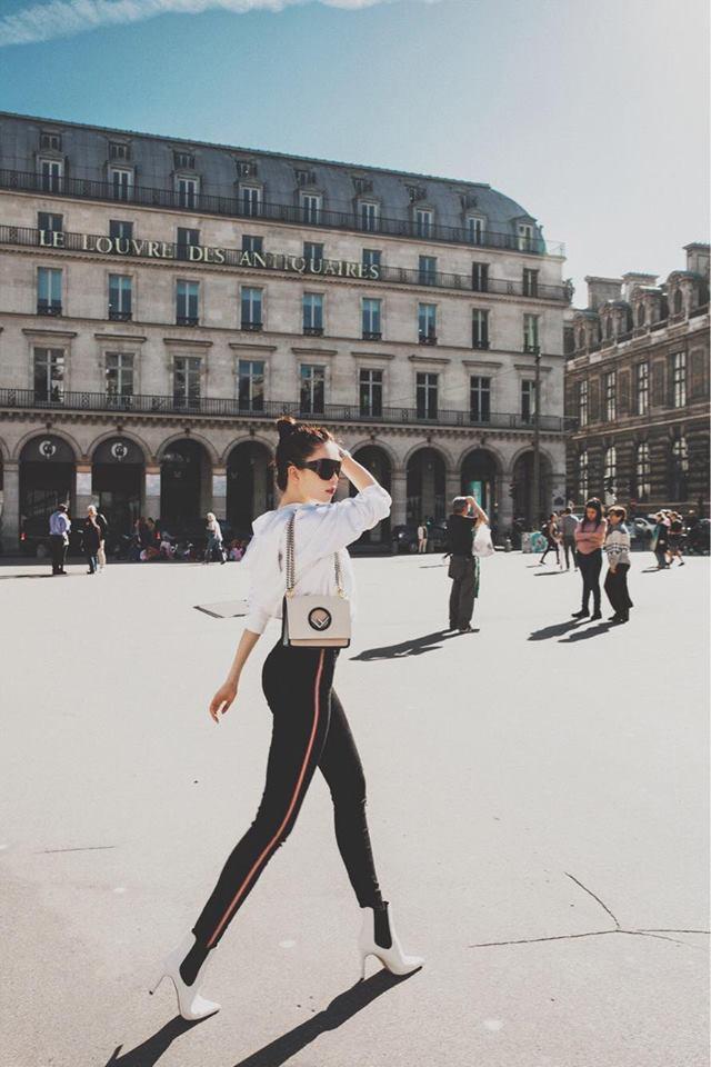 Sải bước trên đường phố Paris, Ngọc Trinh khoe street style chất lừ với hàng hiệu phủ người-11