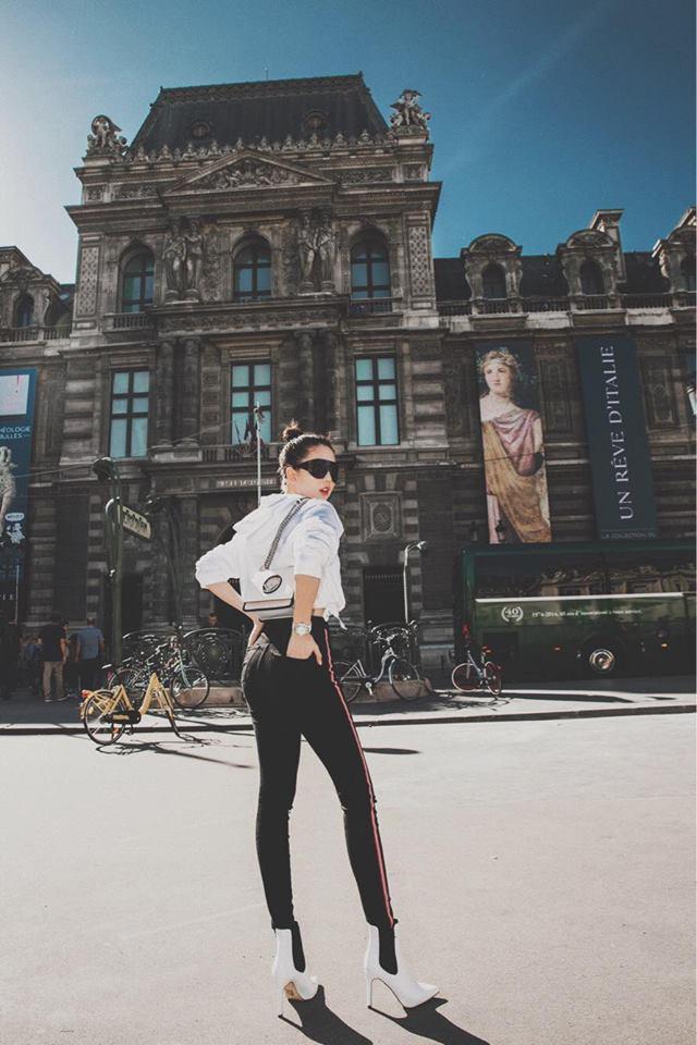 Sải bước trên đường phố Paris, Ngọc Trinh khoe street style chất lừ với hàng hiệu phủ người-12