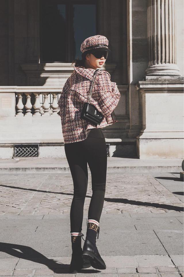 Sải bước trên đường phố Paris, Ngọc Trinh khoe street style chất lừ với hàng hiệu phủ người-5