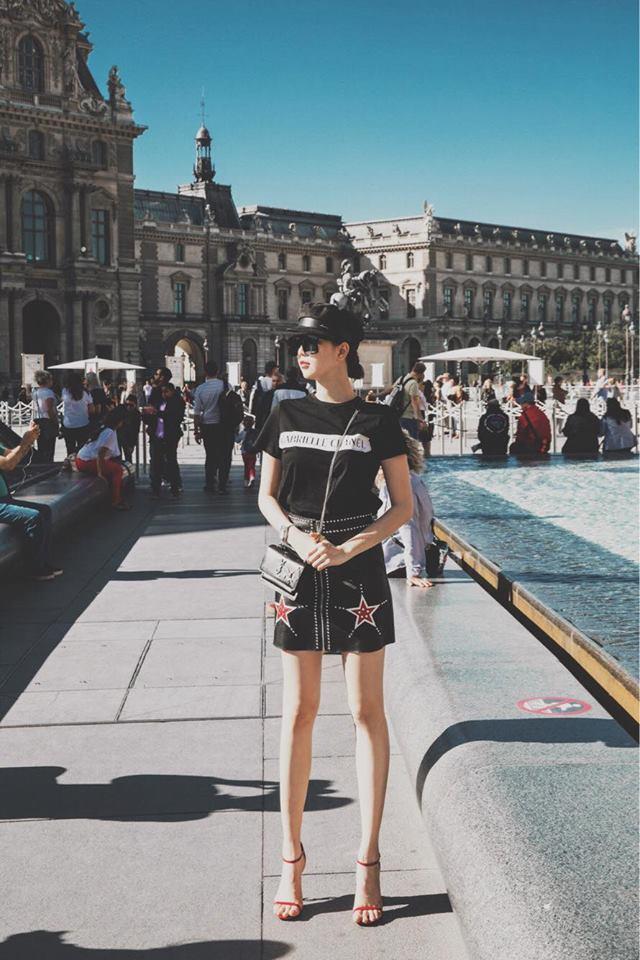 Sải bước trên đường phố Paris, Ngọc Trinh khoe street style chất lừ với hàng hiệu phủ người-8