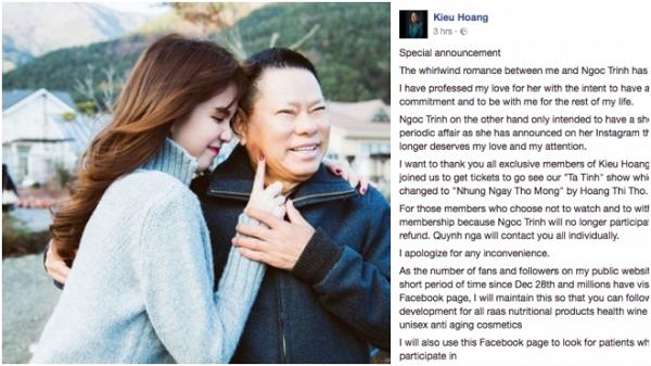 Ngọc Trinh khoe yêu người mới được 2 năm, công chúng tá hỏa nhớ lại cô mới chia tay tỷ phú Hoàng Kiều 21 tháng-3