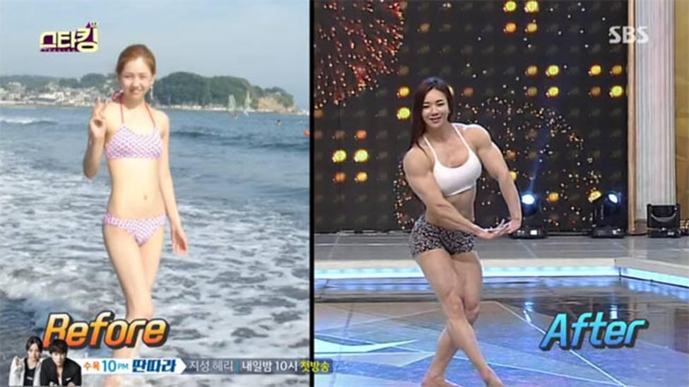 3 cô gái Hàn mặt xinh như mộng nhưng cơ bắp khiến đàn ông khiếp sợ-9