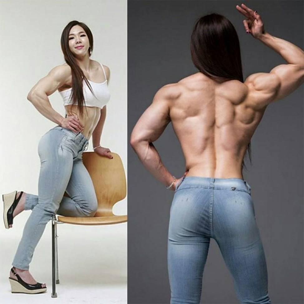 3 cô gái Hàn mặt xinh như mộng nhưng cơ bắp khiến đàn ông khiếp sợ-11