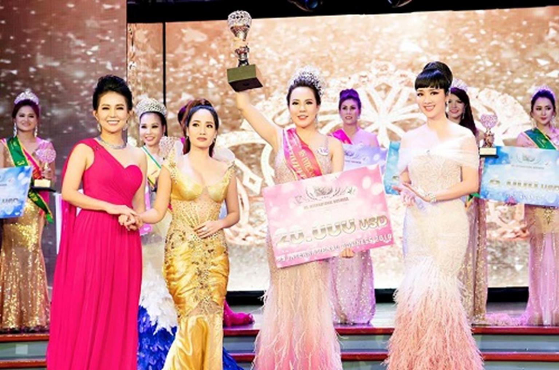 HH Giáng My đẹp tựa nữ thần đốn tim khán giả khi đi chấm thi Hoa hậu-7