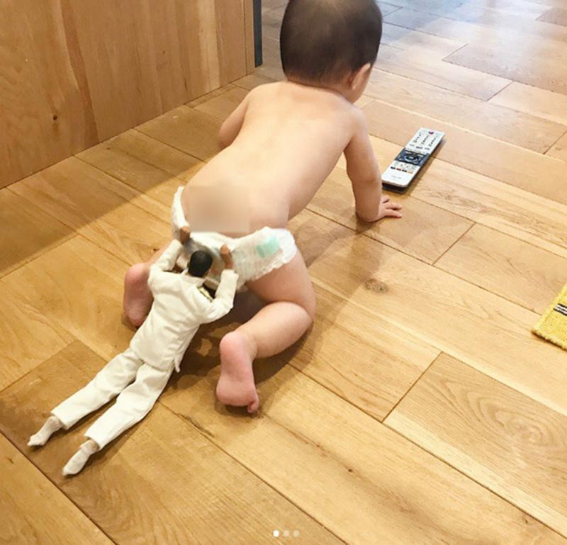 Những bức ảnh chứng minh: Mẹ cứ yên tâm công tác, bố chăm con tốt lắm-3