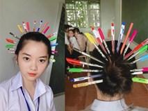 Trào lưu 'Quý phi bút bi' xâm chiếm trường học, bạn đã thử chưa?