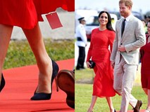 Xuất hiện vô cùng nổi bật cùng Hoàng tử Harry nhưng Công nương Meghan lại mặc váy quên không cắt mác