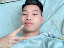 Văn Thanh nhí nhảnh selfie sau ca phẫu thuật thành công