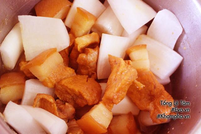 Cuối tuần làm thịt kho củ cải đậm đà, mềm thơm dụ cả nhà ăn cơm-3