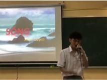 """Nam sinh Sài Gòn """"bắn"""" rap cực chất trên lớp, nghe kỹ hoá ra """"lyrics"""" chính là bài thơ Sóng của Xuân Quỳnh"""
