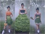 Sàn catwalk là bờ ruộng, váy dạ hội làm từ cây nhà lá vườn nhưng thần thái thì 'mẫu xịn' còn phải học hỏi
