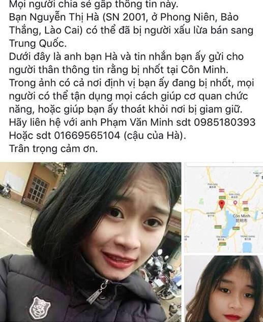 Cô gái 17 tuổi gửi định vị từ Trung Quốc báo tin bị bắt cóc-1