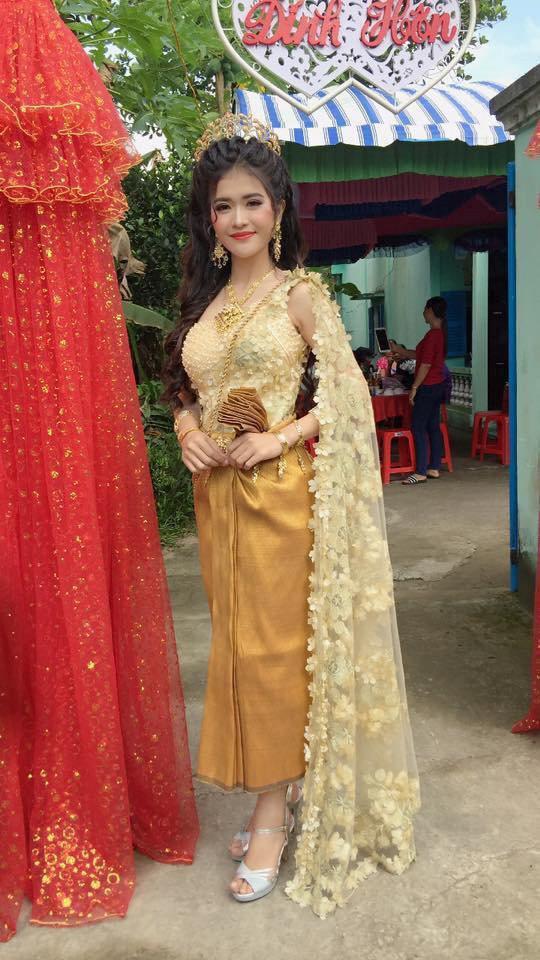 Sự thật bất ngờ đằng sau nhan sắc cô dâu Khmer được khen xinh hơn hoa hậu!-1