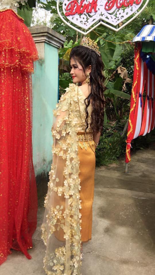 Sự thật bất ngờ đằng sau nhan sắc cô dâu Khmer được khen xinh hơn hoa hậu!-3