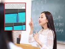 Cô giáo đến lớp chỉ im lặng, khi tự thú lý do thì ai cũng bất ngờ
