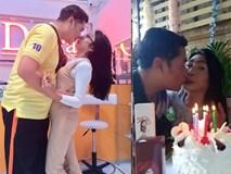 """""""Gái già"""" chuyển giới Thái Lan gây sốc khi uốn éo hôn tình trẻ trong sinh nhật tuổi 57"""