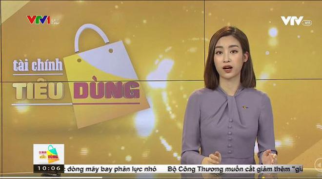 Hình ảnh lần đầu dẫn sóng truyền hình ở VTV24 của Hoa hậu Đỗ Mỹ Linh-1