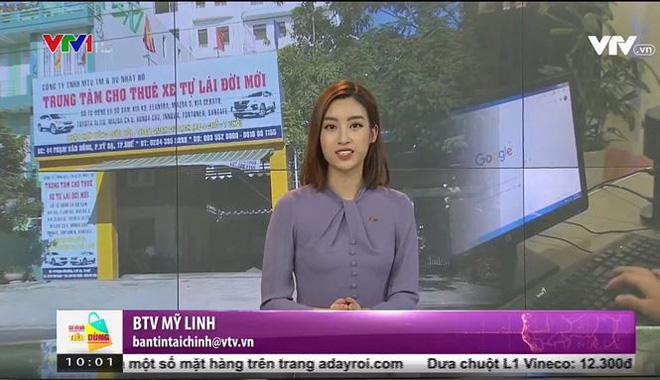 Hình ảnh lần đầu dẫn sóng truyền hình ở VTV24 của Hoa hậu Đỗ Mỹ Linh-2