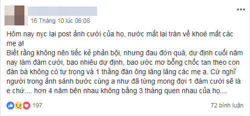 Cô gái bị bạn trai lâu năm đá để cưới người mới quen, 10 hôm sau nhận được tin nhắn sốc-1