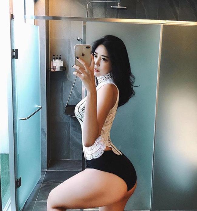 2 mỹ nữ nổi nhất phòng gym Hàn quá hấp dẫn với rãnh hông hiếm có khó tìm-15