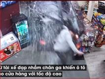 Nữ tài xế đạp nhầm chân ga, tông nát cửa hàng tạp hóa