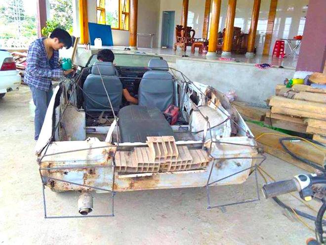 Cận cảnh siêu xe mui trần Lamborghini chờ ngày rước dâu được chế từ xe đồng nát của 9X Hà Tĩnh-2