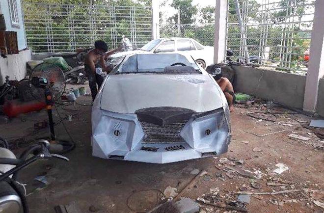 Cận cảnh siêu xe mui trần Lamborghini chờ ngày rước dâu được chế từ xe đồng nát của 9X Hà Tĩnh-5
