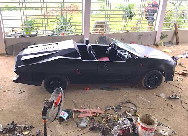 Cận cảnh siêu xe mui trần Lamborghini chờ ngày rước dâu được chế từ xe đồng nát của 9X Hà Tĩnh-6