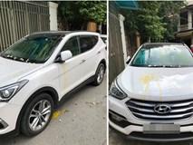 Đỗ thiếu ý thức, xe ô tô trắng bị ném trứng sống trên phố Hà Nội?