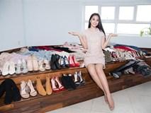 Choáng với số lượng giày và quần áo mà hoa hậu Tiểu Vy mang đi thi Miss World