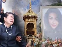 Gia đình, bạn bè khóc ngất trong lễ hỏa táng Á hậu Thái Lan