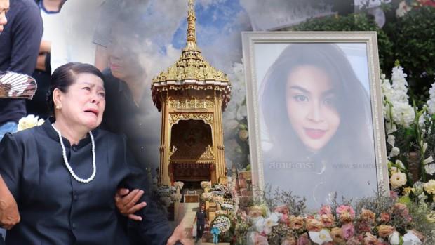 Gia đình, bạn bè khóc ngất trong lễ hỏa táng Á hậu Thái Lan-1