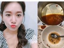 Người ta trổ tài nấu nướng khéo như đầu bếp còn Hari Won thì chỉ thấy ăn